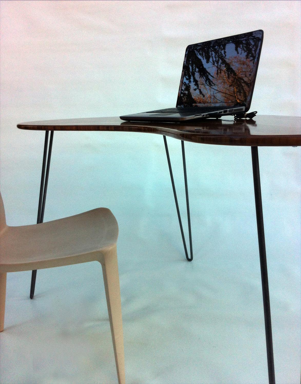 custom standing desk kidney shaped mid. mid century modern desk \u2013 kidney bean custom standing shaped a