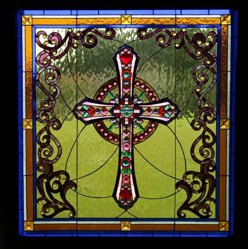Large Of Stained Glass Cross
