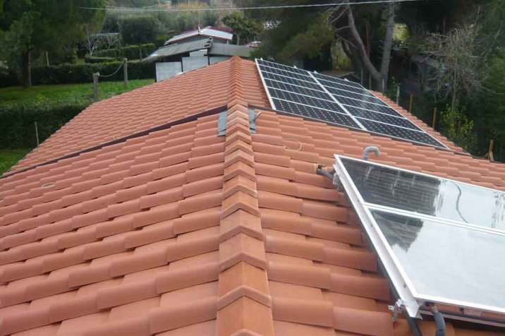 Particolare pannelli solari