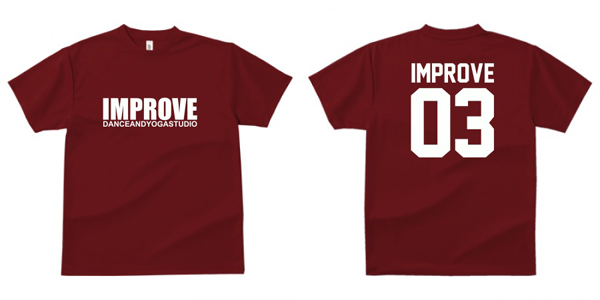 STUDIO-IMPROVE-T-SHIRTS-バーガンディ