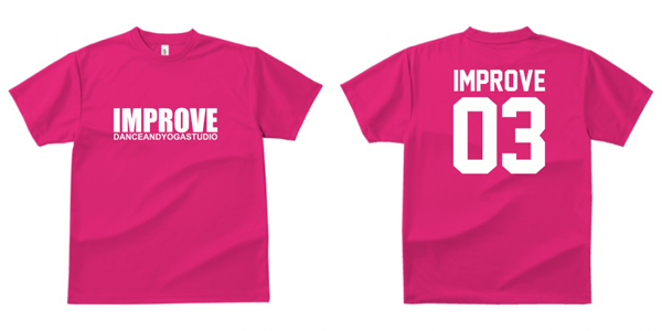 STUDIO-IMPROVE-T-SHIRTS-ピンク