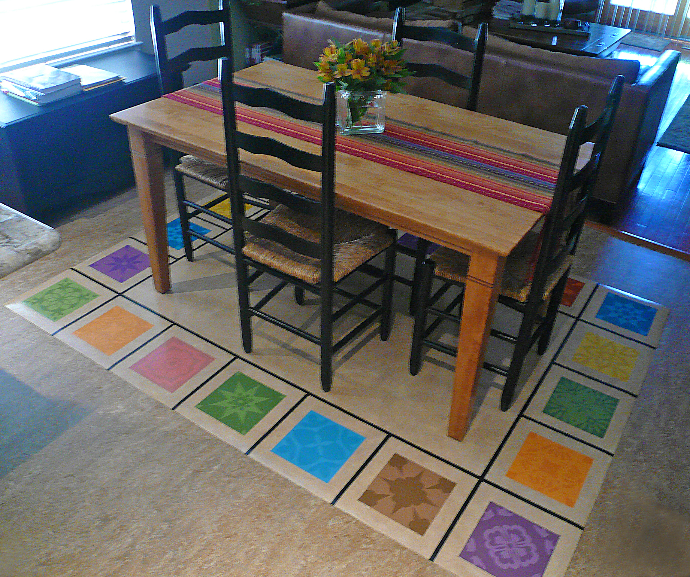 dining room rugs rugs under kitchen table under table floor mat JHC kitchen2