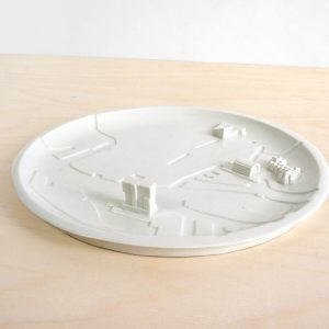C08 - FRONT - rotterdam bebouwde kom - city plate city dish - sushi plate - dish - studio lorier