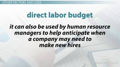 Direct Labor Budget: Definition, Example & Formula - Video & Lesson Transcript | Study.com