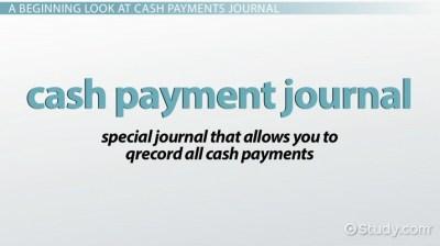 Cash Payments Journal: Definition & Example - Video & Lesson Transcript | Study.com