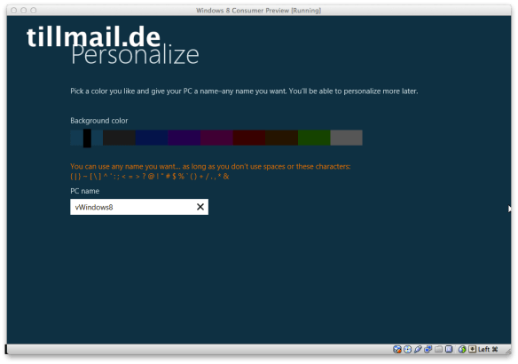 [Screenshot] Windows 8 Consumer Preview Farbwahl