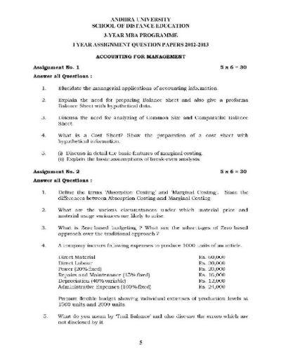 Annamalai University MBA Distance Education Assignment - Page 2 - 2018-2019 StudyChaCha