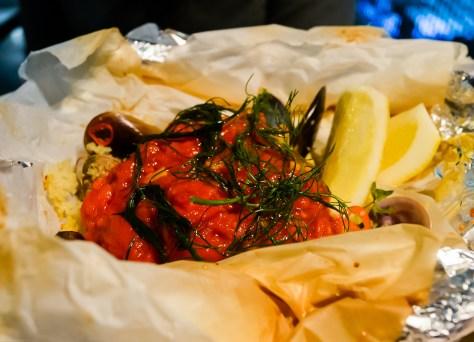 Jamie's Italian Fish Baked In A Bag