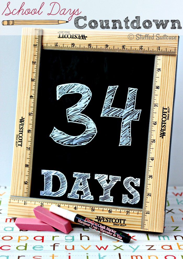 Use this School Countdown to get ready for back to school - free printable StuffedSuitcase.com