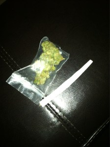 bag of weed and a joint