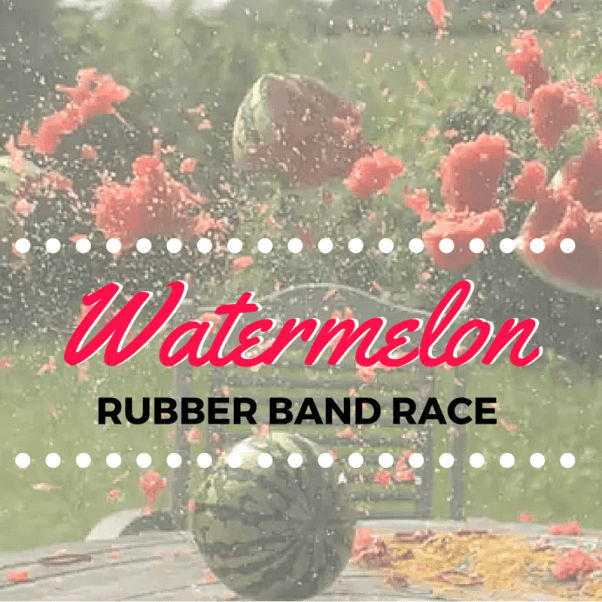 Watermelon Rubber Band Race