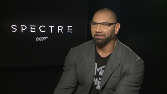 Dave Bautista from the Spectre interviews on youtube.com