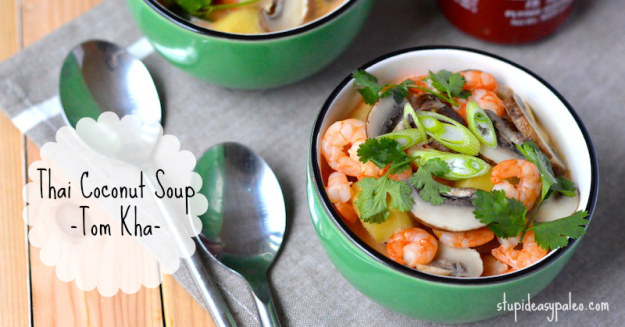 Thai Coconut Soup - Tom Kha | stupideasypaleo.com