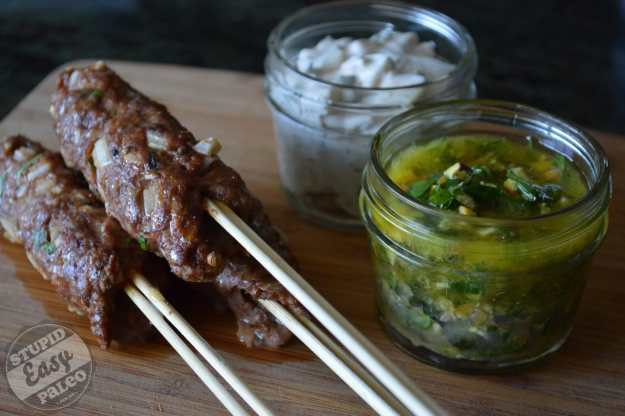 Lamb Kofta (Meat on a Stick) | stupideasypaleo.com