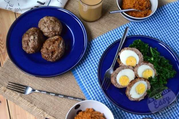 Paleo Breakfast Sausage Scotch Eggs | stupideasypaleo.com