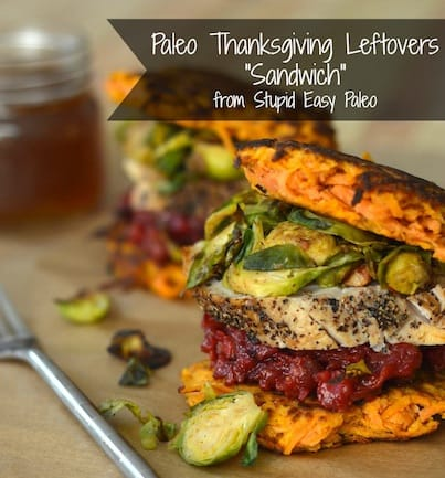 "Paleo Thanksgiving Leftovers ""Sandwich"" 