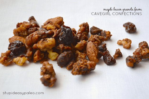 Maple Bacon Granola from Cavegirl Confections | stupideasypaleo.com