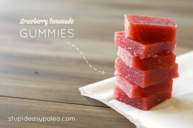 Strawberry Lemonade Gummies | stupideasypaleo.com
