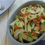 Kohlrabi Salad with Apple Ginger Vinaigrette | stupideasypaleo.com