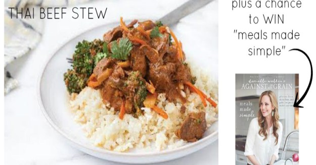 Paleo Slow Cooker Thai Beef Stew | stupideasypaleo.com