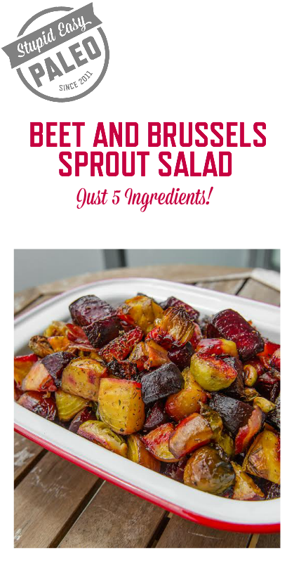 Beet and Brussels Sprout Salad | stupideasypaleo.com