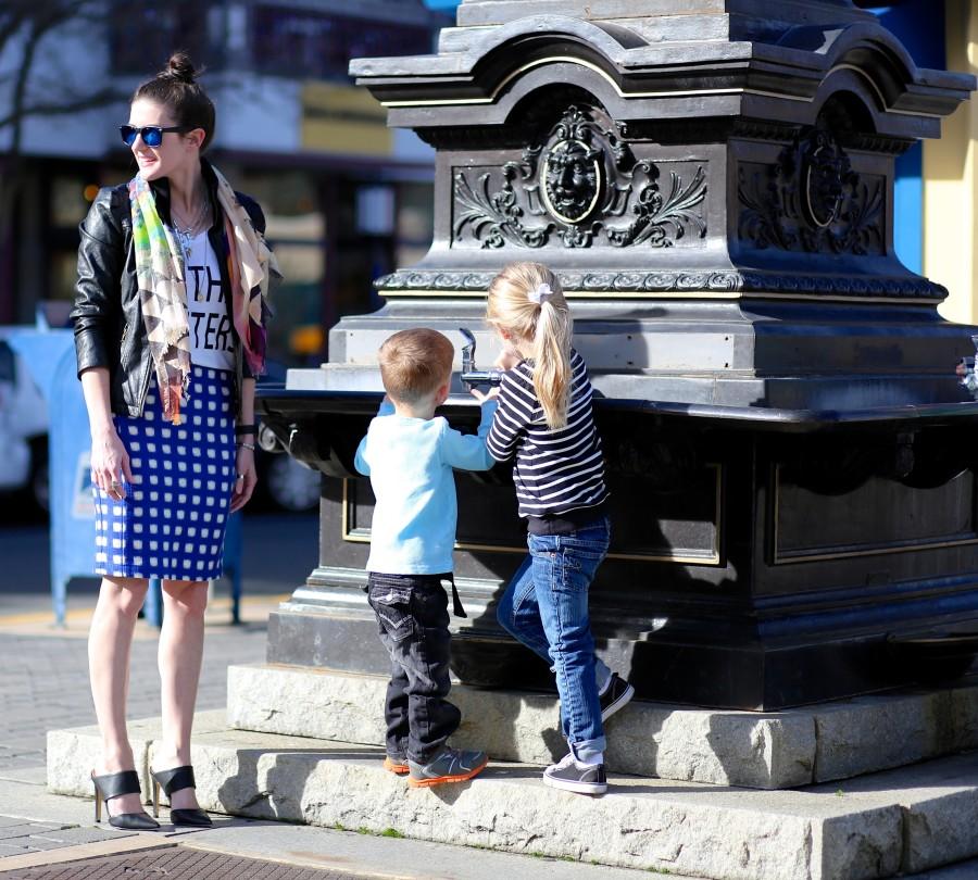 Blue Check Skirt 4a