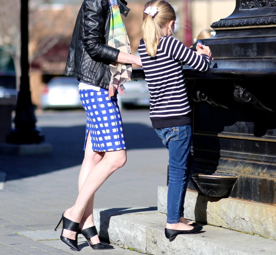 Blue Check Skirt 5a