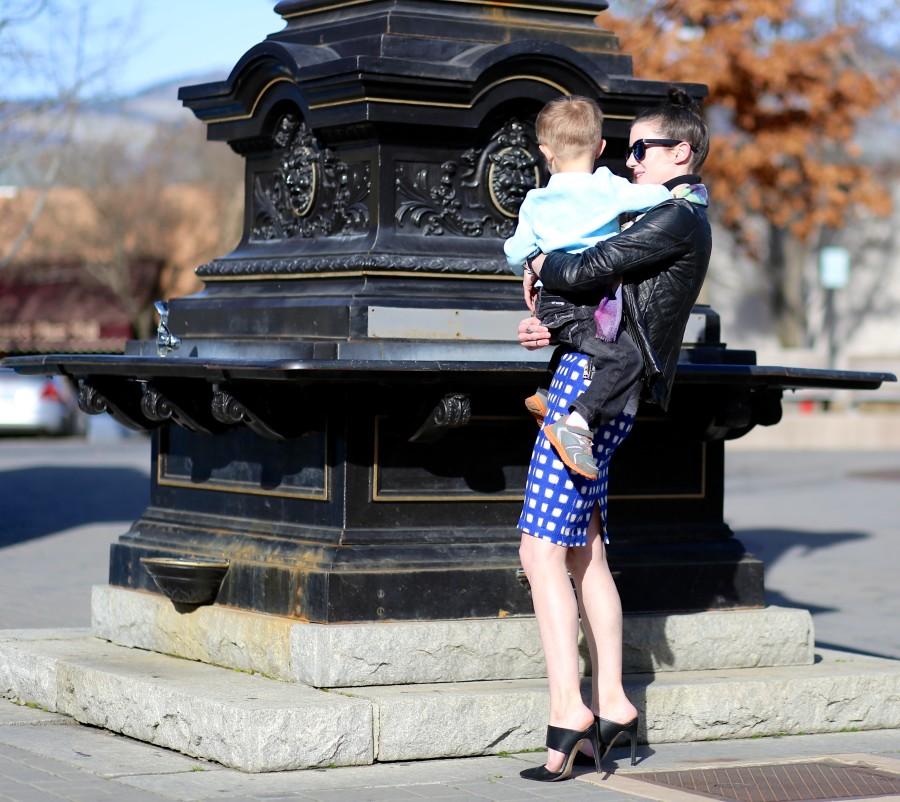 Blue Check Skirt 7a
