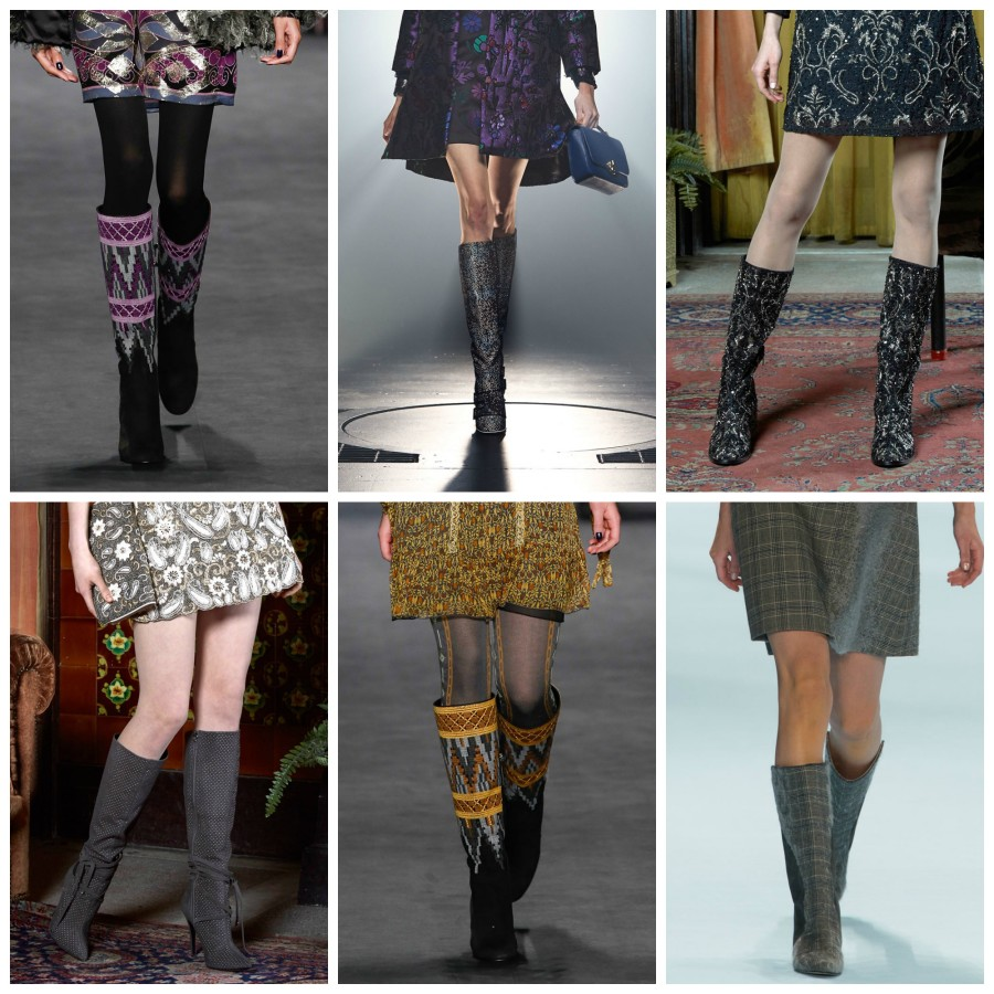 Mid KNEE PRINTED BOOTS nyfw fw15