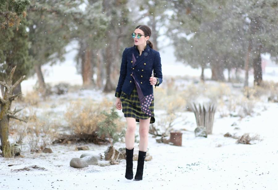 Plaid Dress Blazer 3a