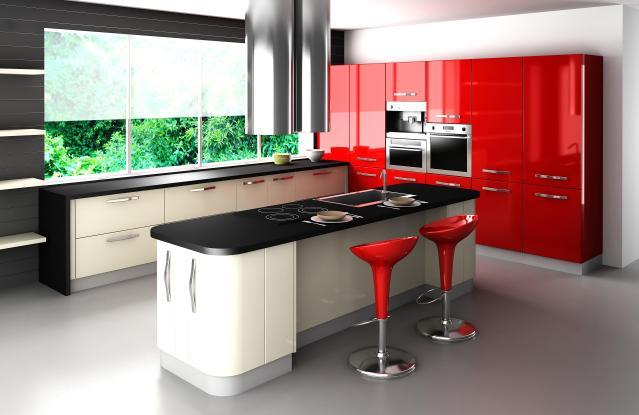 מטבח מעוצב ונועז אך יחד עם זאת שימושי ונגיש.