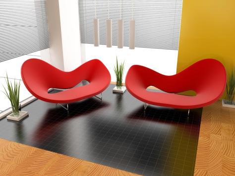 שימוש בצבעים עזים עם קווים ישרים שיוצרים פינת ישיבה מעוצבת אך יחד עם זאת גם מאוד מזמינה