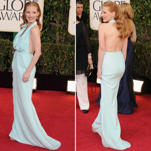 worst-dressed-golden-globes-2013-jessica-chastain-calvin-klein