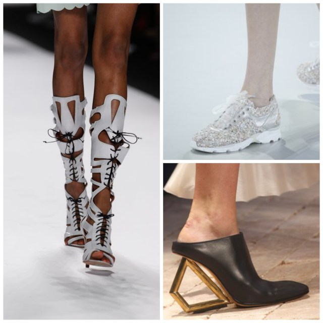 shoe trends spring 2014 1024x1024 Spring Trend Report: Gladiators, Mules, & Sneakers