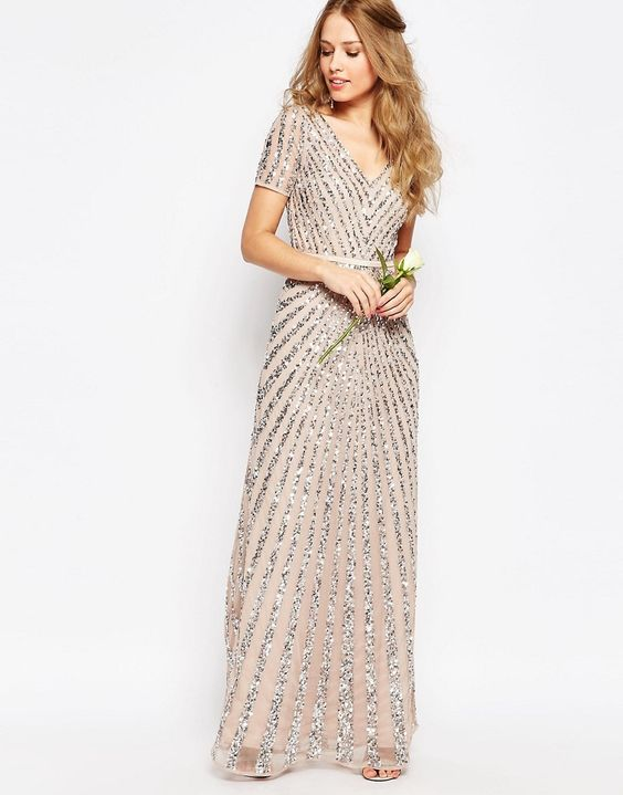 asos sequin dress for wedding