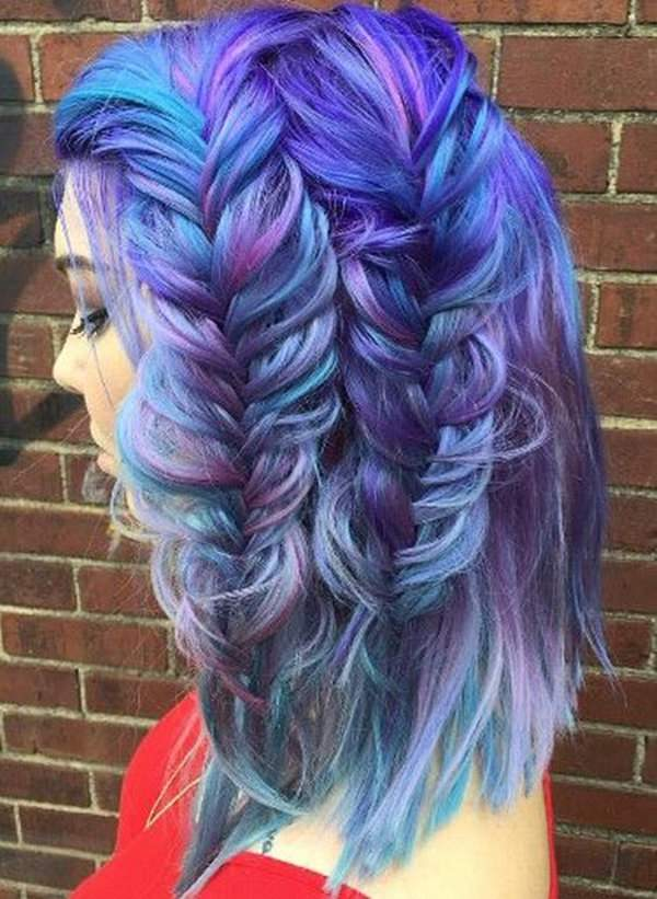 Short Hair Cut With Side Braids Look Amazing Diffe Shades Of Blue You Can Create A Subtle Ombre Effect As Well