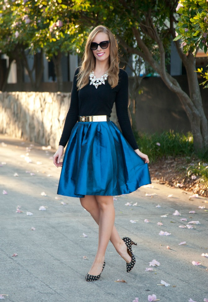 81 Style Sessions Fashion Link Up: Spring Style   Cobalt Skirt