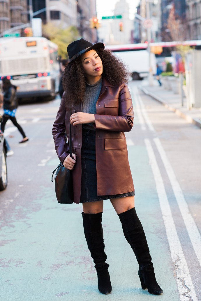 Kaylah-Burton-Style-Me-Twice-NYC-Fashion-Weaver-ASOS-Denim-Polly-A-Line-Button-Through-Midi-Skirt-In-Washed-Black-Brixton-Messer-Hat