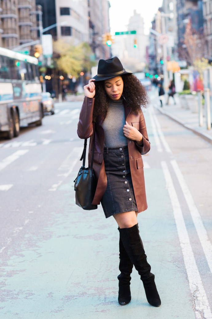 Kaylah-Burton-Style-Me-Twice-NYC-Style-ASOS-Denim-Polly-A-Line-Button-Through-Midi-Skirt-In-Washed-Black-Over-The-Knee-boots-NYC-Fashion-Bloggers-Brixton-Messer-Hat