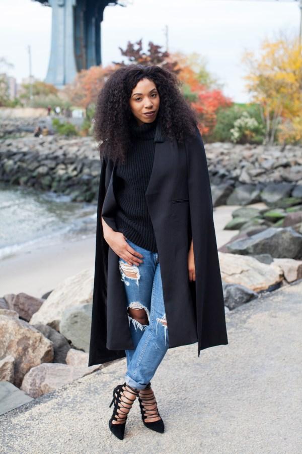 ways to style a cape blazer