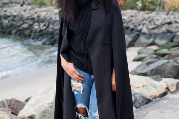 ways to style a cape blazer