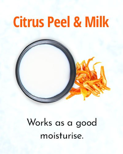 foto Fairness with orange peel powder Orange peel for skin whitening
