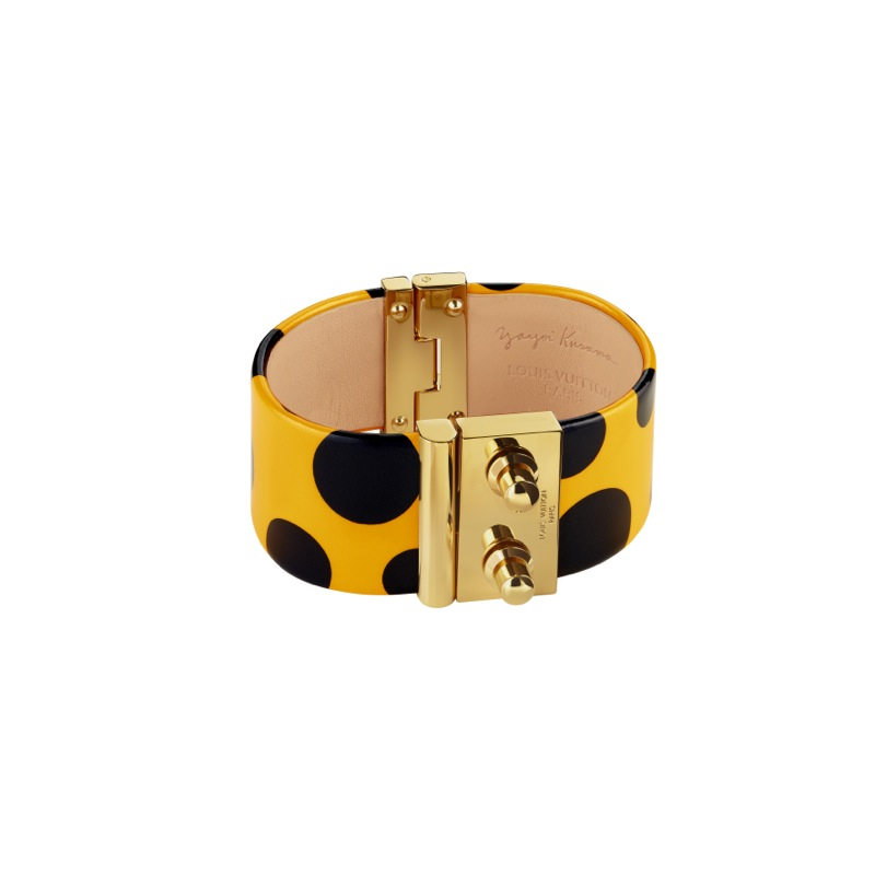 Yayoi Kusama Louis Vuitton Cuff Dots Infinity yellow