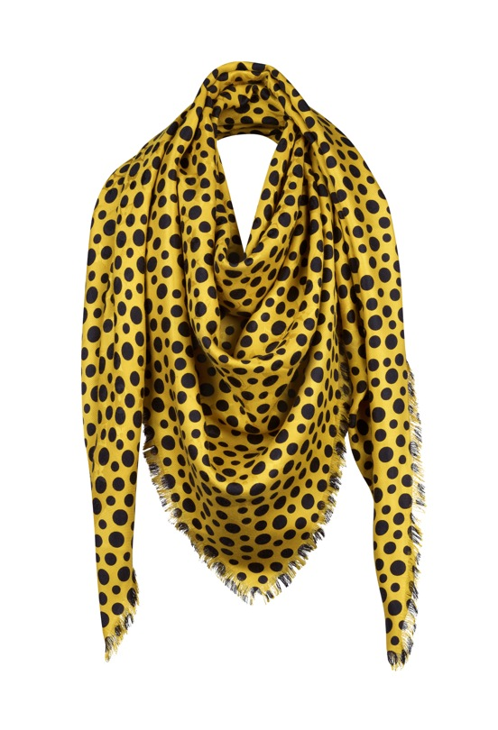 Yayoi Kusama Louis Vuitton Monogram Shawl Dots Infinity yellow