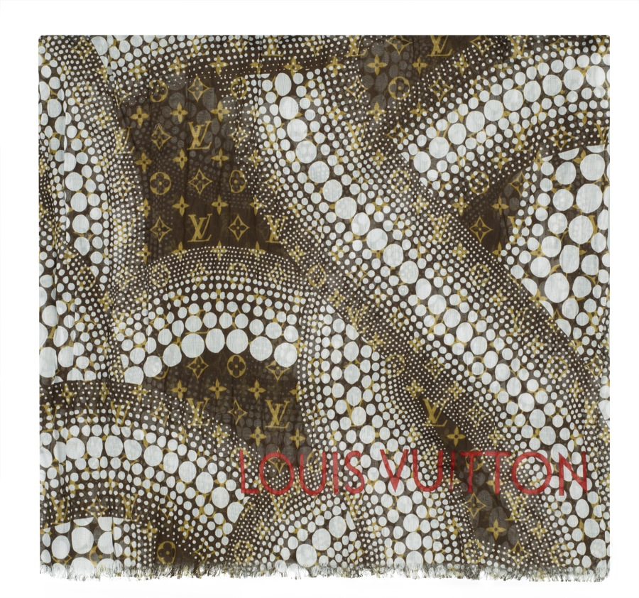 Yayoi Kusama Louis Vuitton Pareo Monogram Waves white