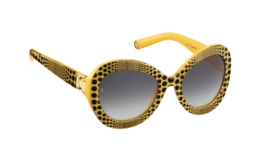 Yayoi Kusama Louis Vuitton Sunglasses Waves Oversize yellow