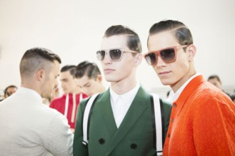 Backstage at the Kris Van Assche Spring Summer 2014 Show 3