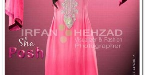 Sha Posh Eveingin wear new frock design photography by IrfanShahzad Fashion Photographer