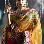 NC Latest Indian Ghunghroo Lehenga Sarees 2013 For Weddings (2)