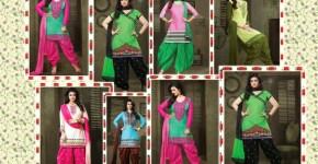 Actress Ayesha Takia aand Izabelle Leite Patiala suits Design 2014 15